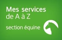 Carte des services Equin