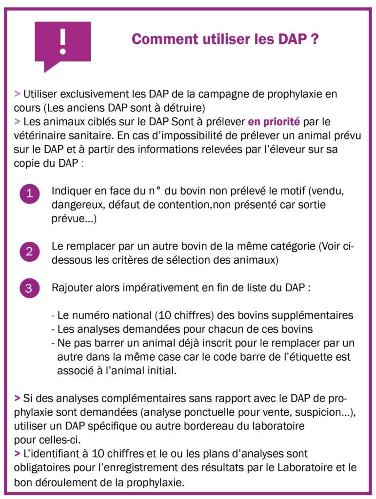 Comment utiliser les DAP ?